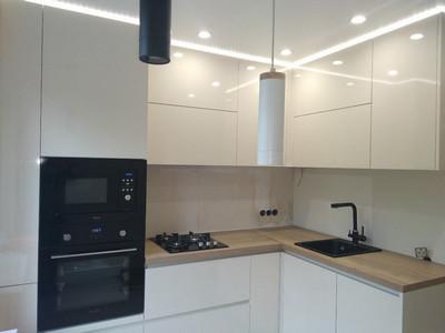 Кухня №9 (коричневый/белый)