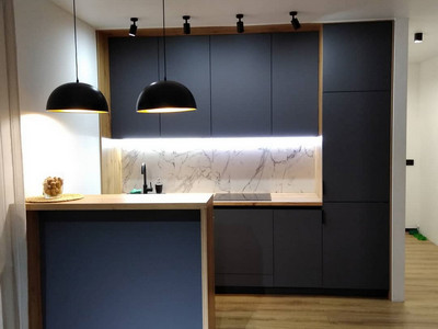Кухня №18 (салатовый/дерево)