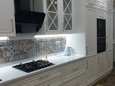 Кухня №24 (белый/бежевый)