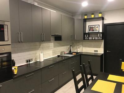 Кухня №35 (дерево/белый)