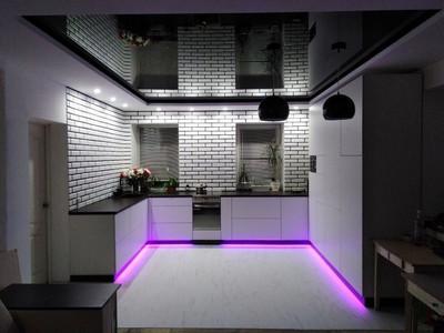 Кухня №5 (коричневая с бежевым)