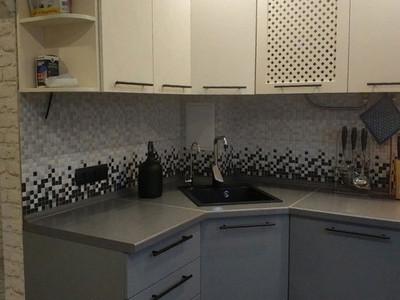 Кухня №7 (черная с белым)