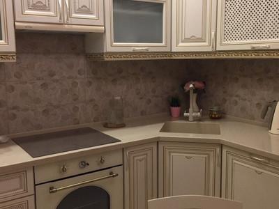 Кухня №13 (коричневая с бежевым)