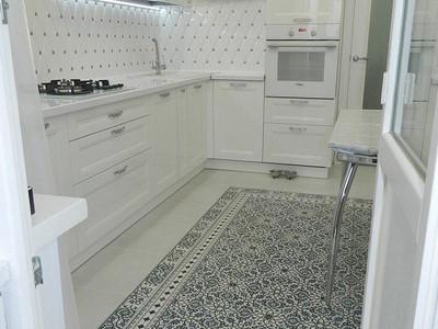 Кухня №19 (черная с бордовым)