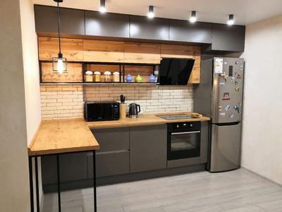 Кухня №28 (желтая с серым)