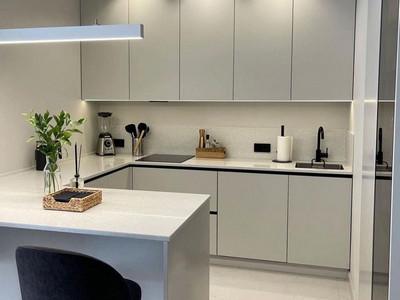 Кухня №34 (бордовая с серым)