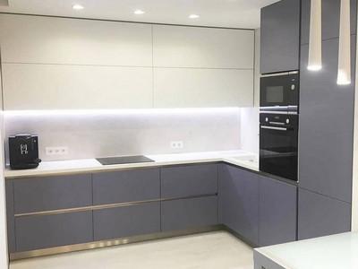 Кухня №44 (синяя с белым)